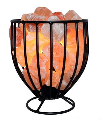 Salt Lamps Hs Code : Natural Himalayan Salt Metal Basket Bowl Lamp Tall